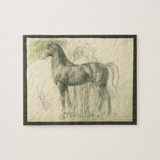 Study of a Horse by Edgar Degas, Vintage Fine Art Jigsaw Puzzle