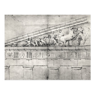 Study of a pediment from the Parthenon Postcard