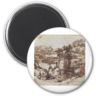 Study of a Tuscan landscape. Magnet