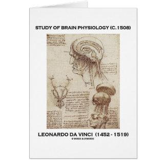 Study Of Brain Physiology (Leonardo da Vinci 1508) Card
