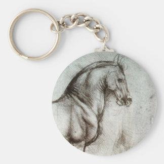 Study of Horses Key Ring