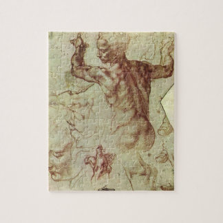 Study of Libyan Sibyl by Michelangelo Jigsaw Puzzle