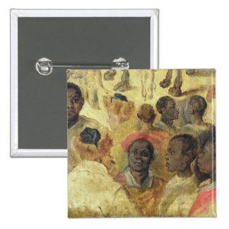 Study of Moorish Heads 15 Cm Square Badge