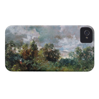 Study of Sky and Trees (oil on canvas) iPhone 4 Case