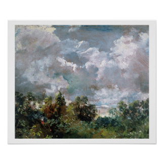 Study of Sky and Trees oil on canvas Print