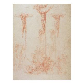 Study of Three Crosses Postcard