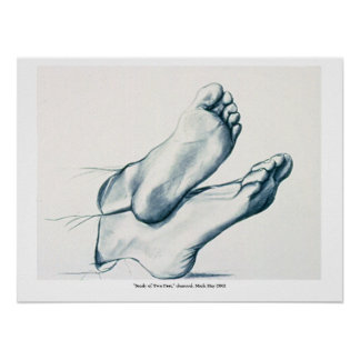 """""""Study of Two Feet"""" Poster"""