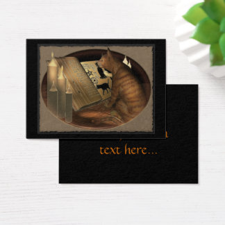 Studying Cat Lessons ATC ACEO Business Card