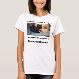 Studying for nursing is tough (Cute Cat Picture) T-Shirt