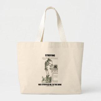 Studying Has Stripped Me To The Bone (Skeleton) Jumbo Tote Bag