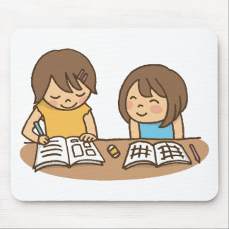 Studying Students Mouse Pad