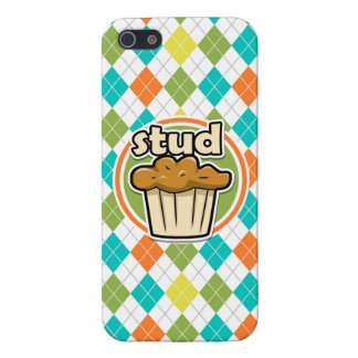 Stuf Muffin; Colorful Argyle Pattern Case For iPhone 5