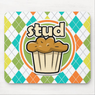 Stuf Muffin; Colorful Argyle Pattern Mouse Pad