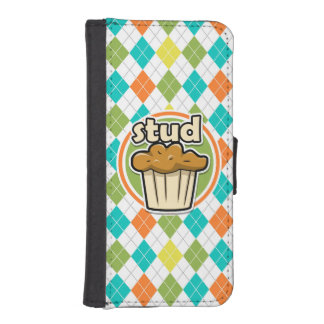 Stuf Muffin; Colorful Argyle Pattern iPhone 5 Wallet Case