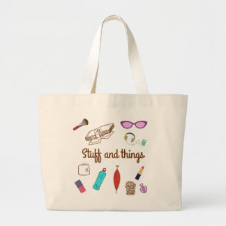 Stuff and Things Large Tote Bag
