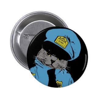 Stuff on my cat - Cop 6 Cm Round Badge