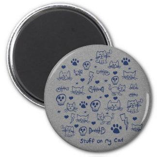 stuff on my cat - doodle magnet