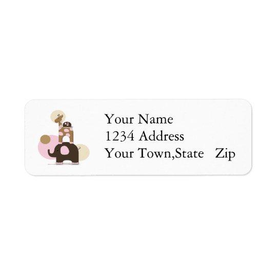 Stuffed Animal Address Label