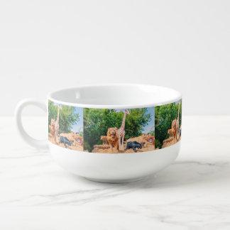 Stuffed animals soup mug