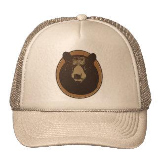 Stuffed Brown Bear Head on the Wall Mesh Hat