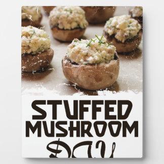 Stuffed Mushroom Day - Appreciation Day Plaque