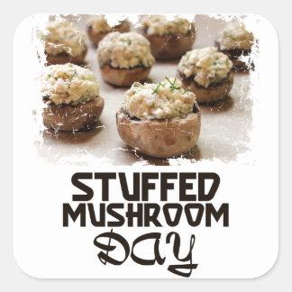 Stuffed Mushroom Day - Appreciation Day Square Sticker