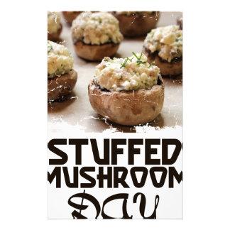 Stuffed Mushroom Day - Appreciation Day Stationery