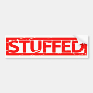 Stuffed Stamp Bumper Sticker