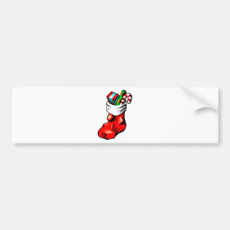 Stuffed Stocking Bumper Sticker