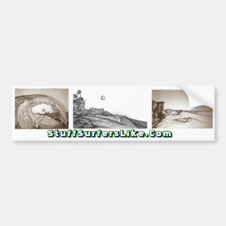 StuffSurfersLike.Com's Epic Waves Tribute Bumper Sticker