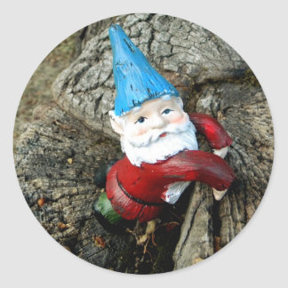 Stumped Gnome Classic Round Sticker