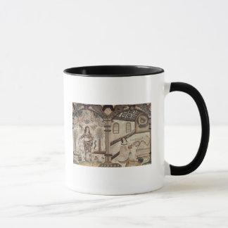 Stumpwork depicting Charles I  and Charles II Mug
