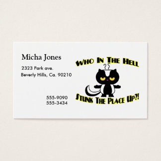 Stunk The Place Up Skunk Business Card