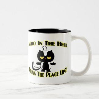 Stunk The Place Up Two-Tone Coffee Mug