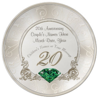 Stunning 20th Wedding Anniversary Gifts Plate