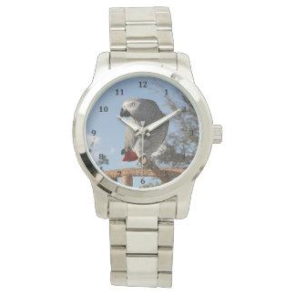 Stunning African Grey Parrot Wristwatch