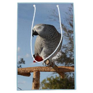 Stunning African Grey Parrot Medium Gift Bag