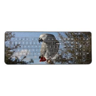 Stunning African Grey Parrot Wireless Keyboard