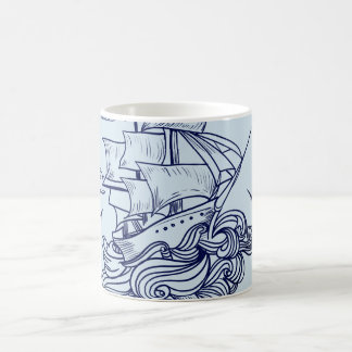 Stunning Baby Blue Adventure Boat Classic Mug