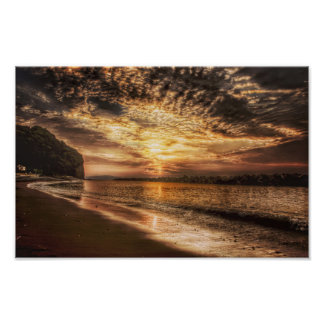 Stunning Beach Sunrise Poster