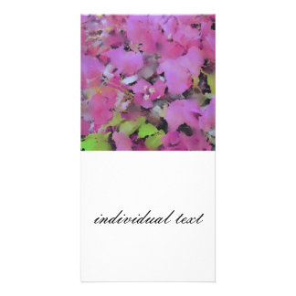 stunning blossoms personalized photo card
