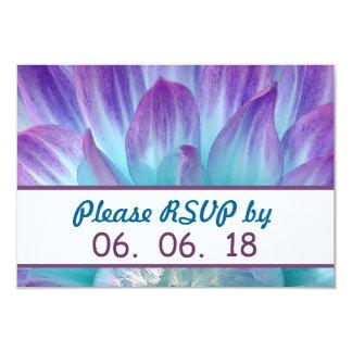 Stunning Blue and Purple Wedding Dahlia A04 9 Cm X 13 Cm Invitation Card