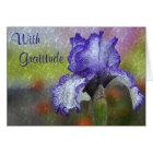 Stunning Blue Iris Thank You Card