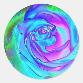 Stunning Blue Rose Classic Round Sticker