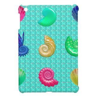 Stunning Bright Seashell Blue Beach Pattern iPad Mini Case