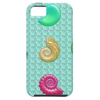 Stunning Bright Seashell Blue Beach Pattern iPhone 5 Case