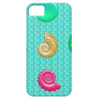 Stunning Bright Seashell Blue Beach Pattern iPhone 5 Cases