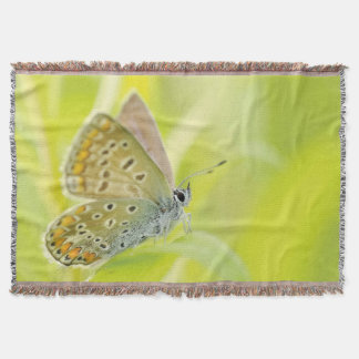 Stunning Butterfly in Nature Print Throw Blanket