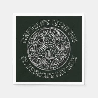 Stunning Celtic St. Patrick's Day Paper Napkin