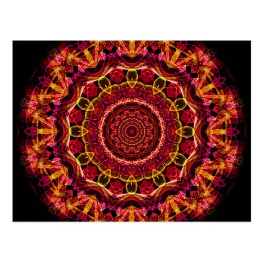 Stunning Chaos kaleidoscope Postcard